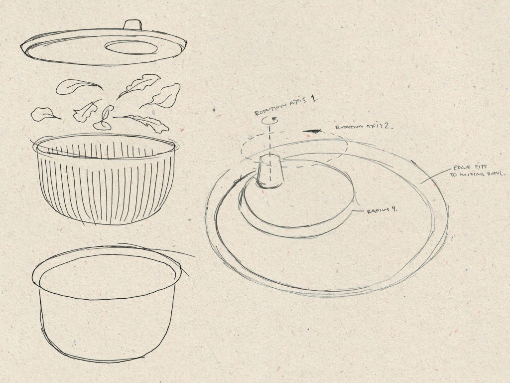 Salad Spinner Sketch 1