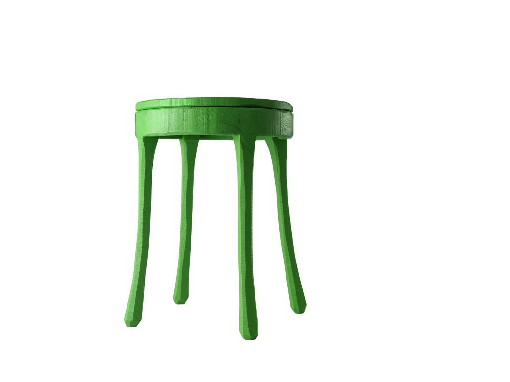 Raw Chair Stool Green