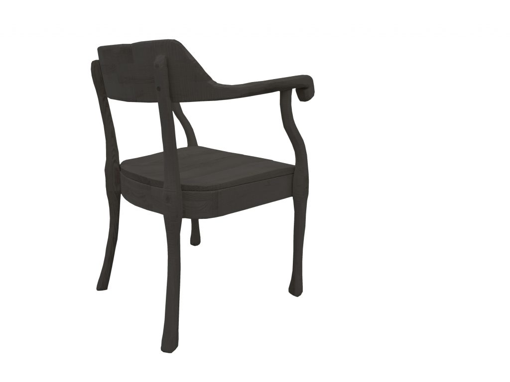Raw chair back grey